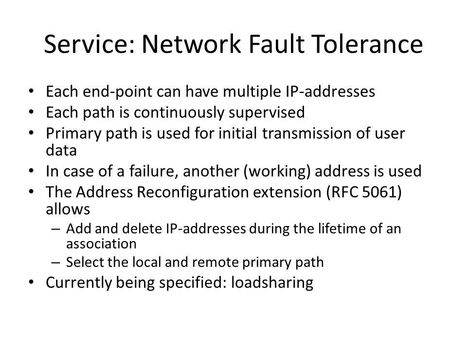 Service: Network Fault Tolerance