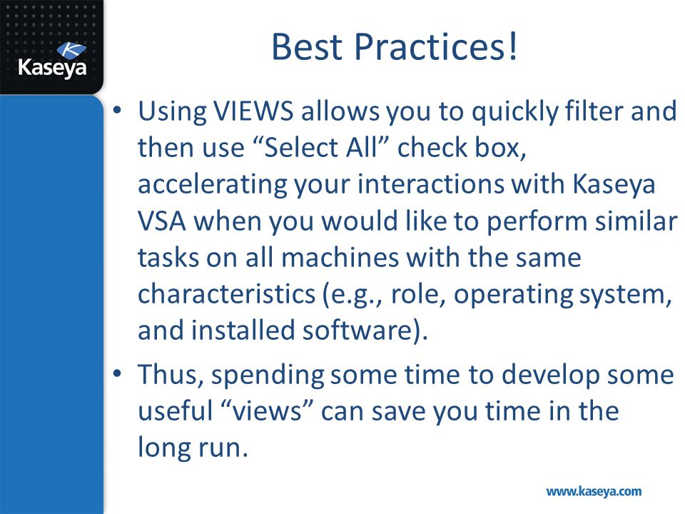 Best Practices!