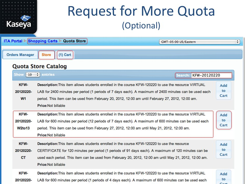 Request for More Quota (Optional)