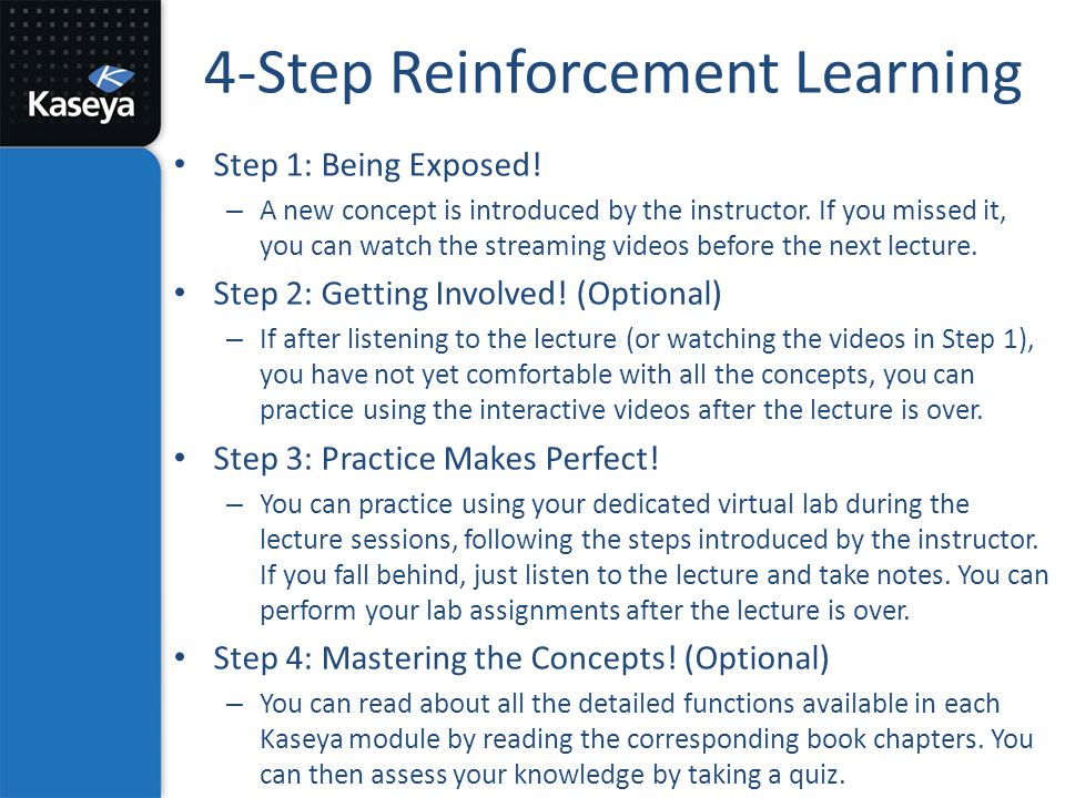 4-Step Reinforcement Learning