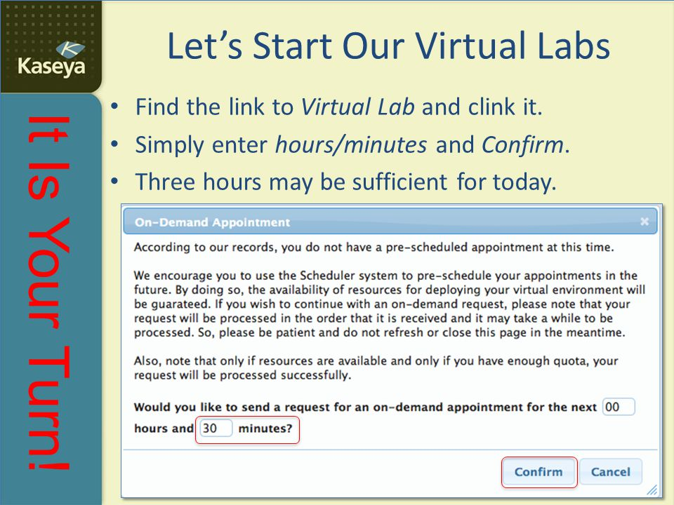 Let's Start Our Virtual Labs