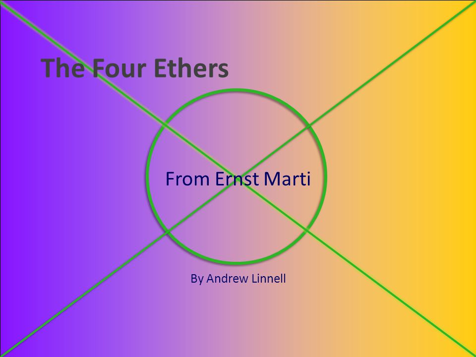 From Ernst Marti By Andrew Linnell