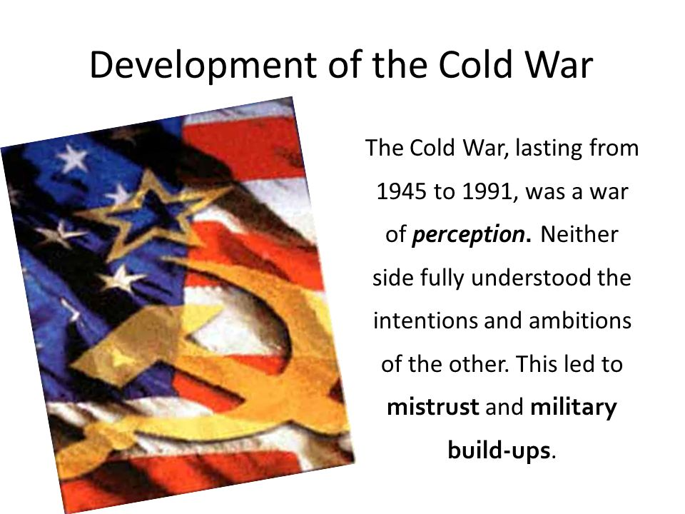 Development of the Cold War