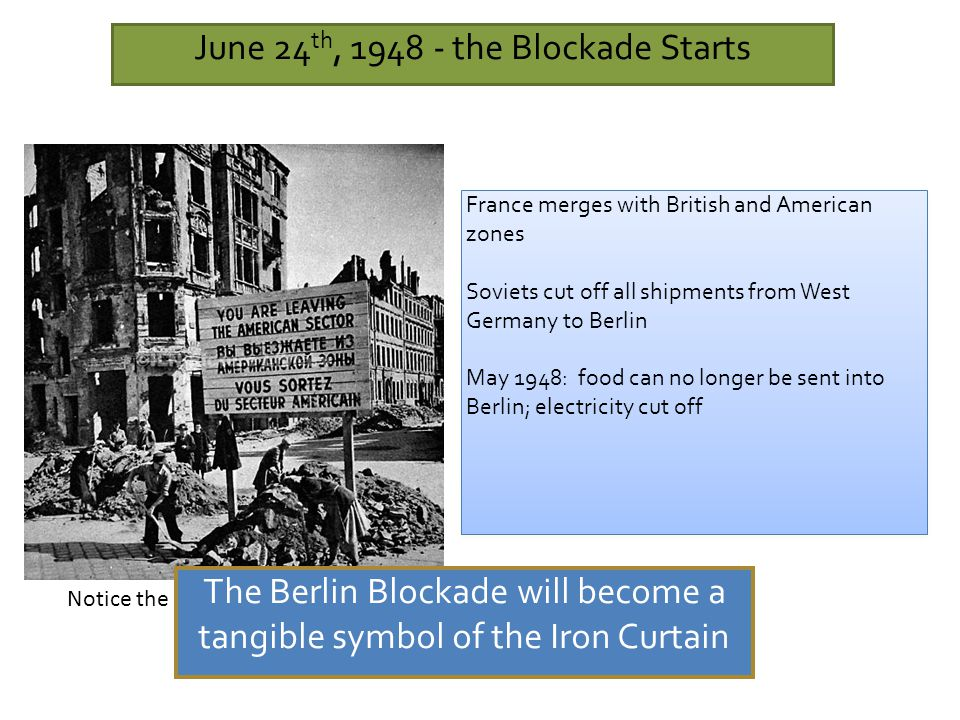 June 24th, 1948 - the Blockade Starts
