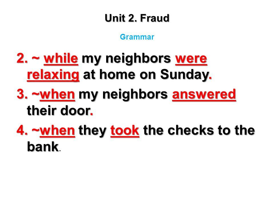 Unit 2. Fraud Grammar.