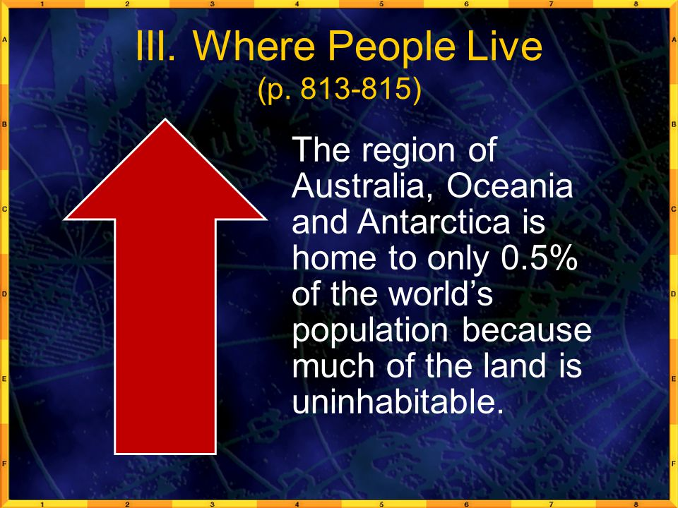 III. Where People Live (p. 813-815)