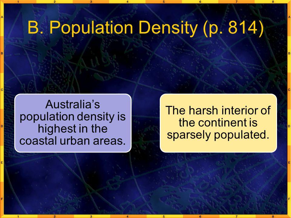 B. Population Density (p. 814)