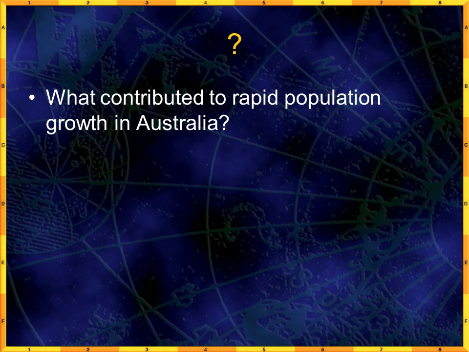 What contributed to rapid population growth in Australia