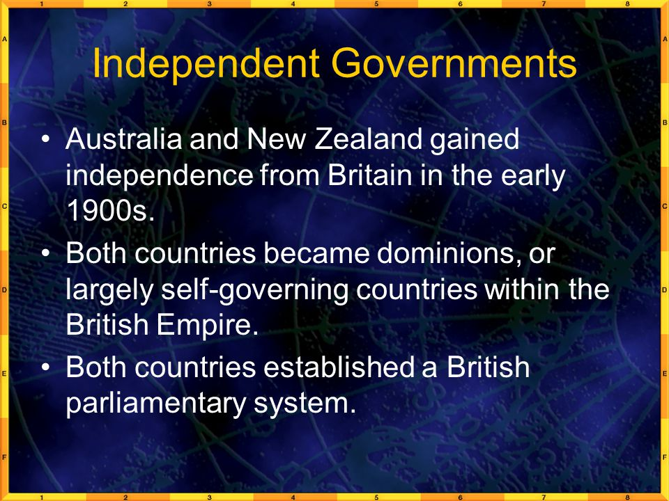 Independent Governments