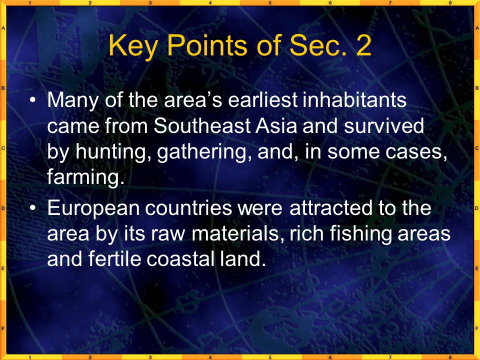 Key Points of Sec. 2