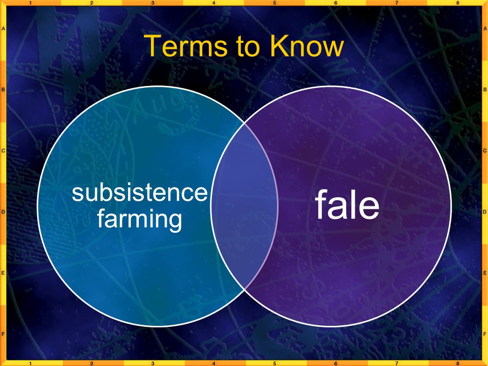Terms to Know subsistence farming fale