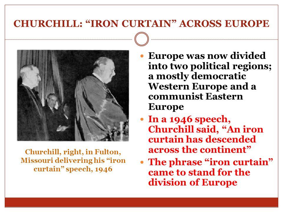 CHURCHILL: IRON CURTAIN ACROSS EUROPE