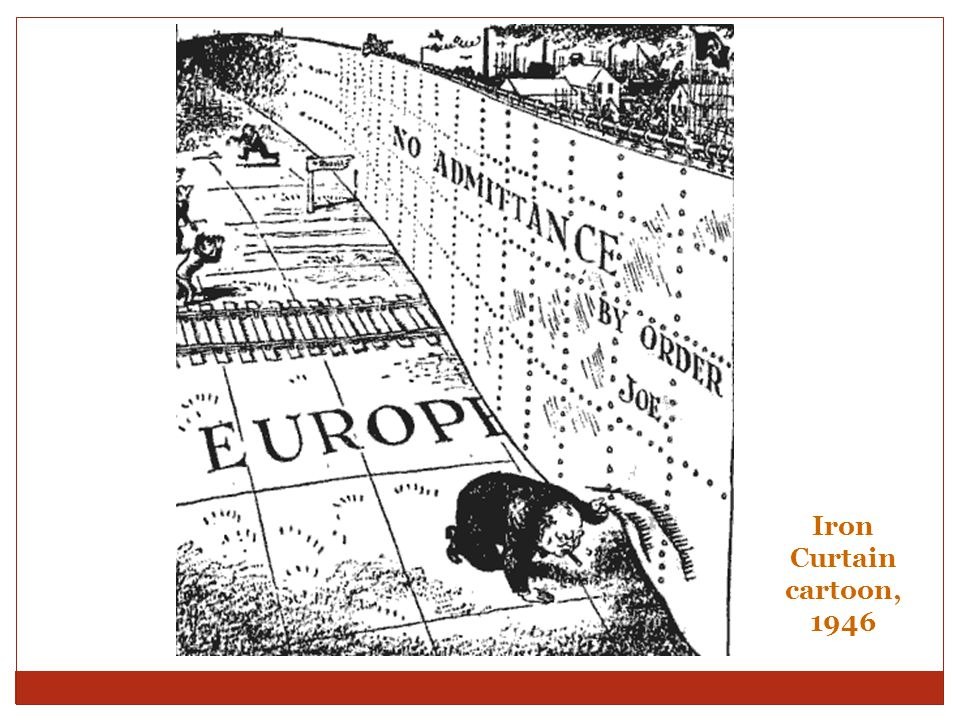 Iron Curtain cartoon, 1946