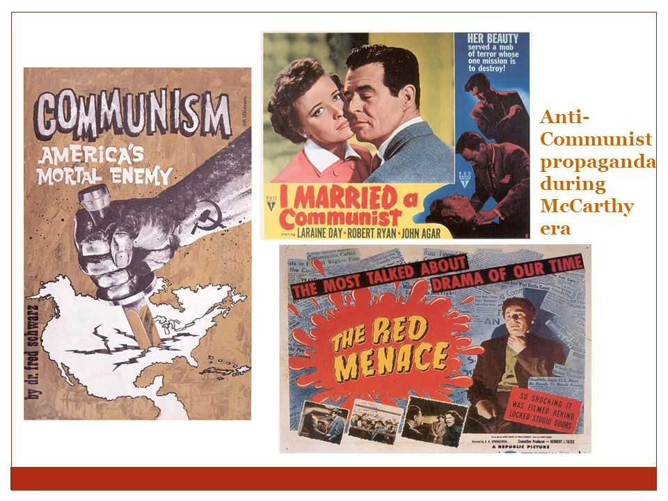 Anti-Communist propaganda during McCarthy era