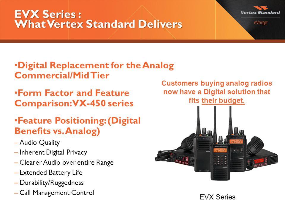 EVX Series : What Vertex Standard Delivers