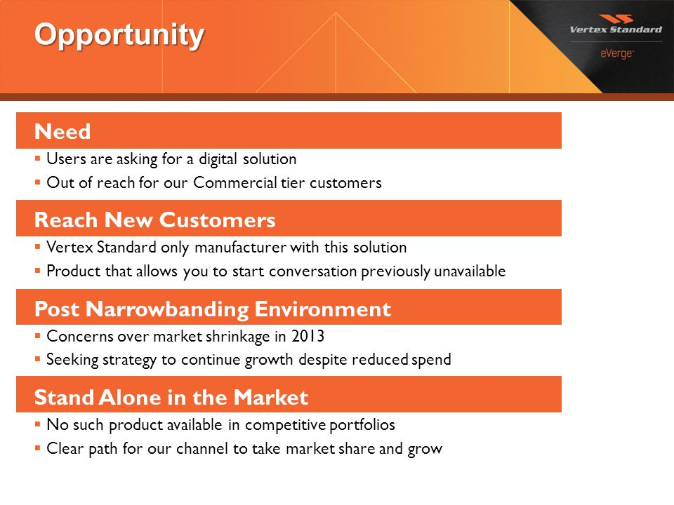 Opportunity Need Reach New Customers Post Narrowbanding Environment