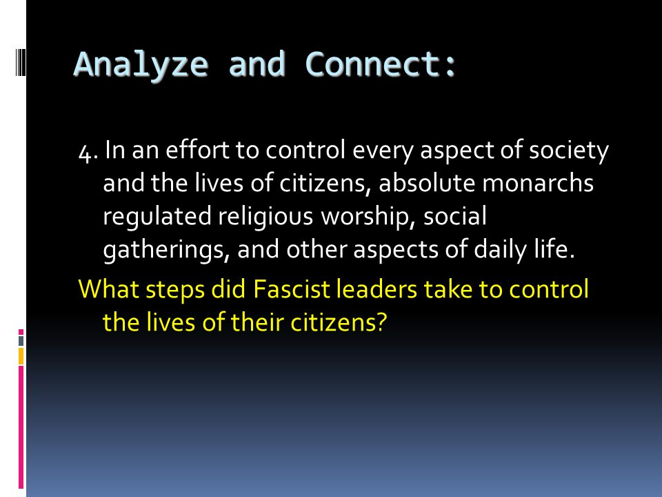 Analyze and Connect: