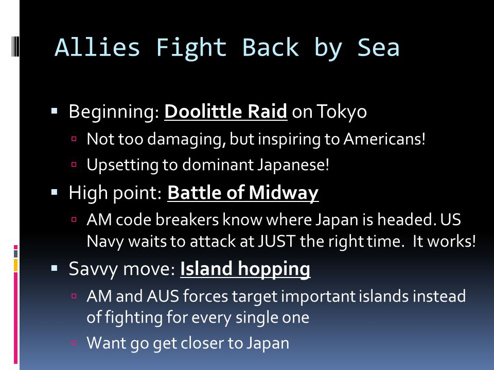 Allies Fight Back by Sea