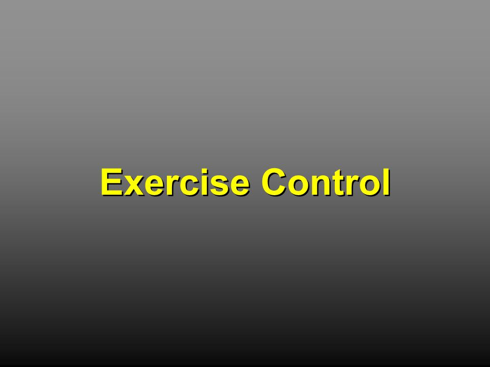 Exercise Control