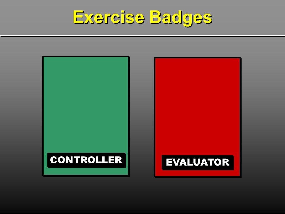 Exercise Badges CONTROLLER EVALUATOR