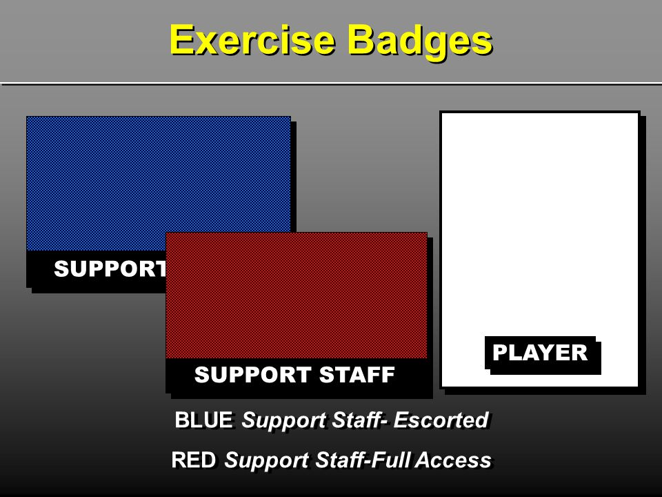 BLUE Support Staff- Escorted RED Support Staff-Full Access