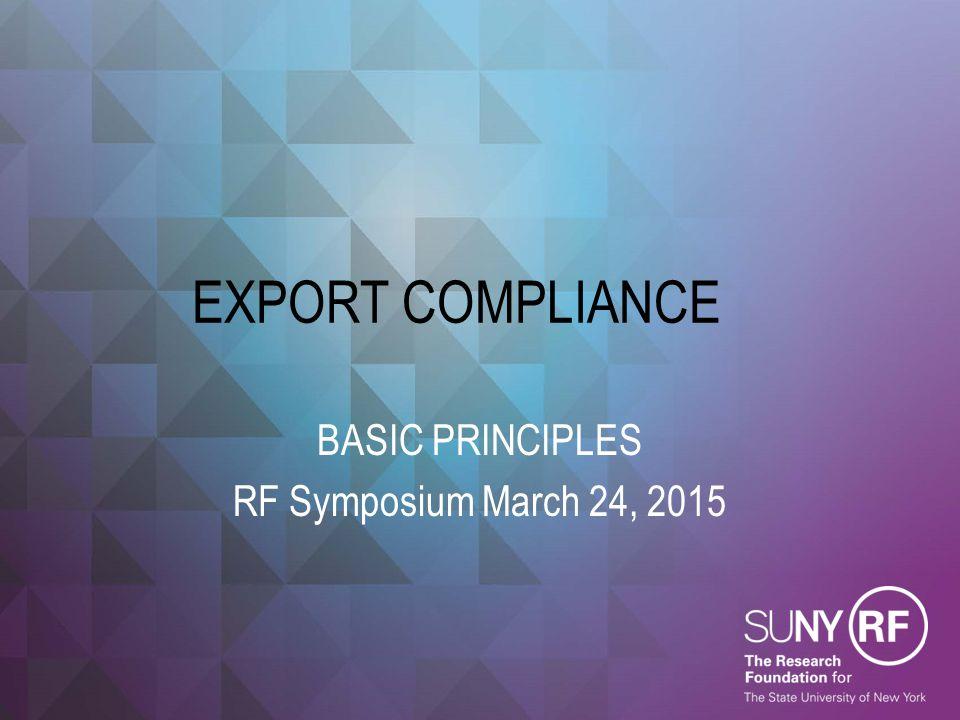 BASIC PRINCIPLES RF Symposium March 24, 2015