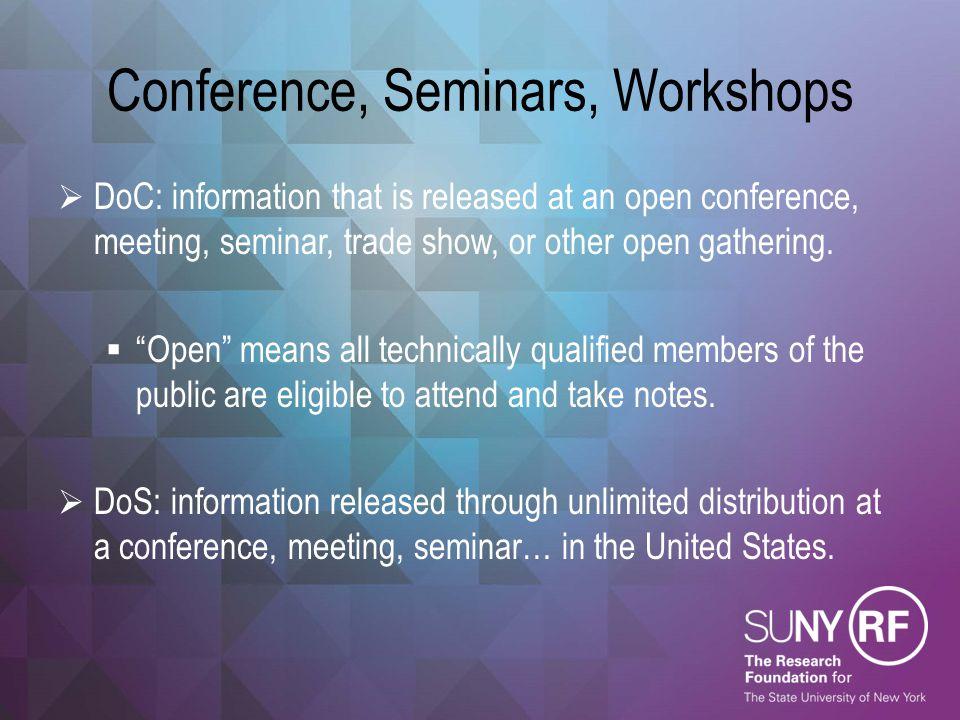Conference, Seminars, Workshops