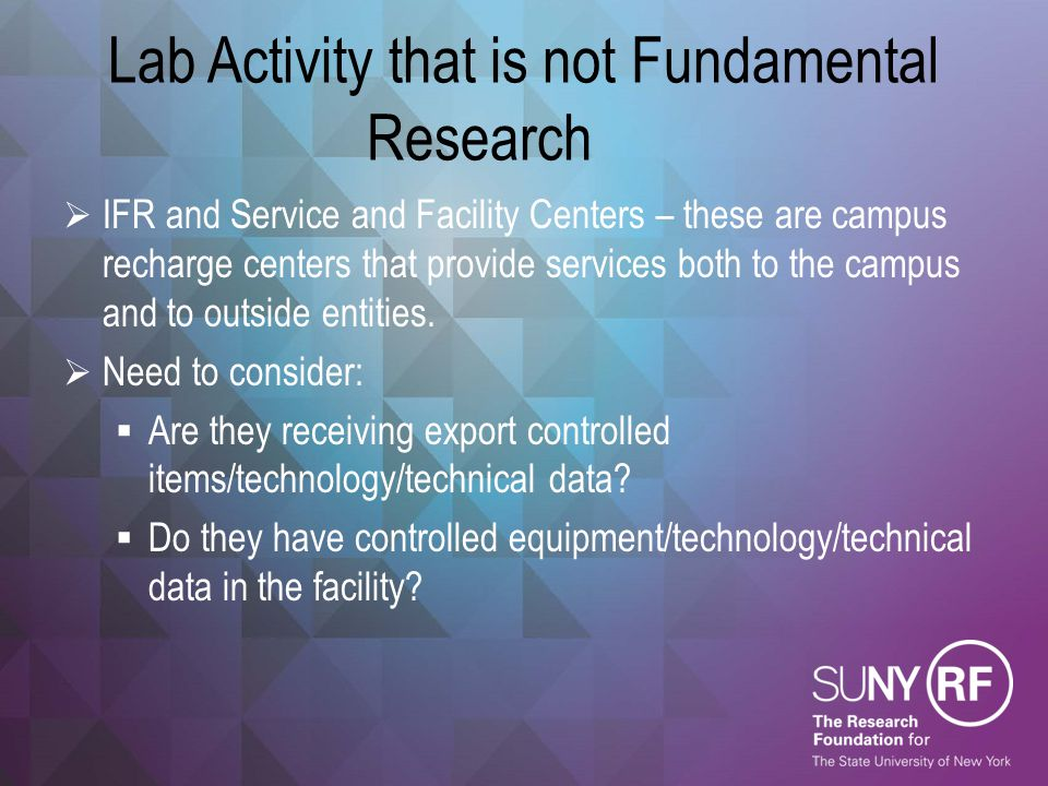Lab Activity that is not Fundamental Research