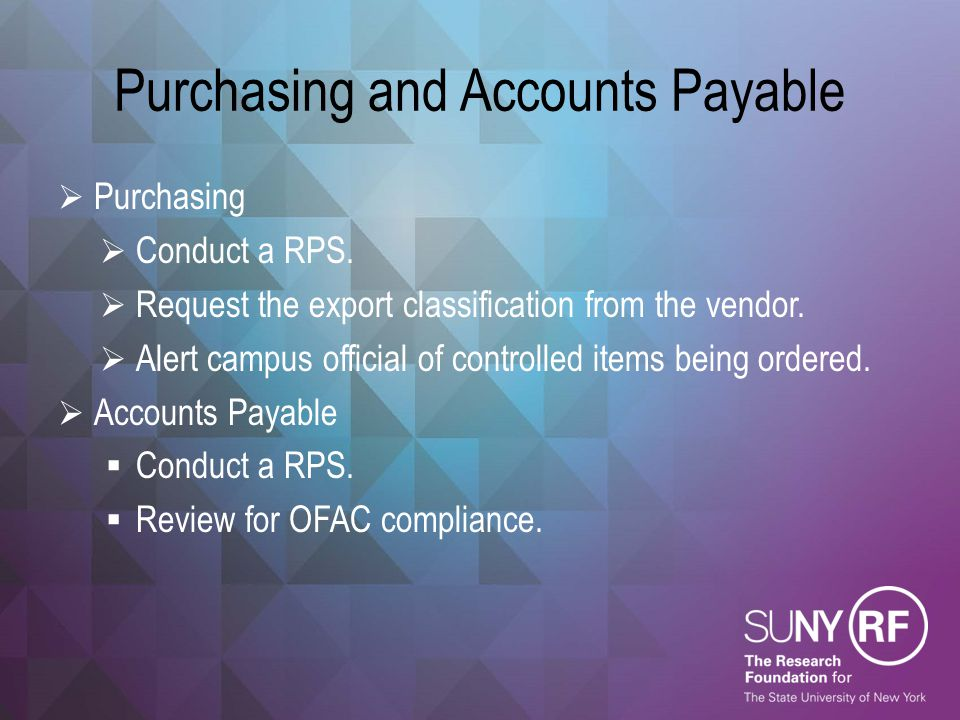 Purchasing and Accounts Payable