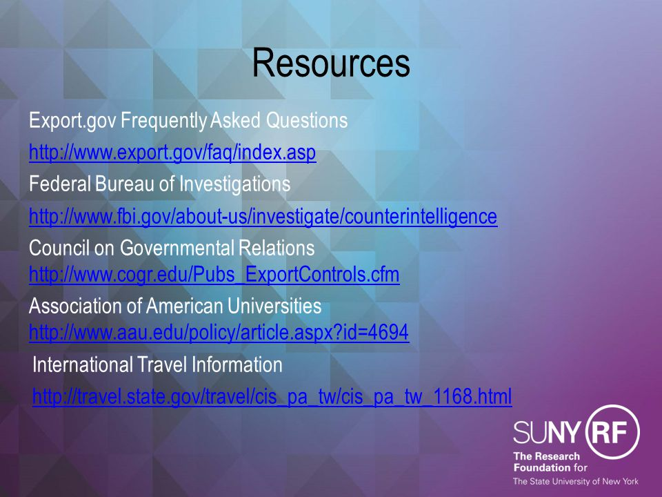 Resources Export.gov Frequently Asked Questions