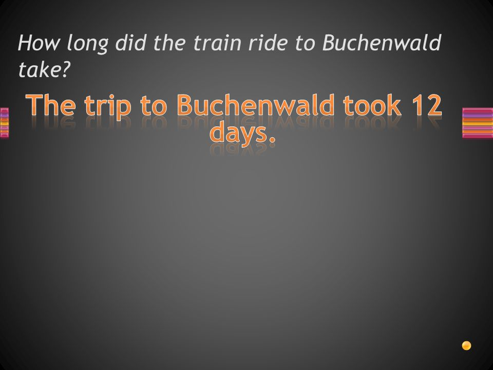 How long did the train ride to Buchenwald take