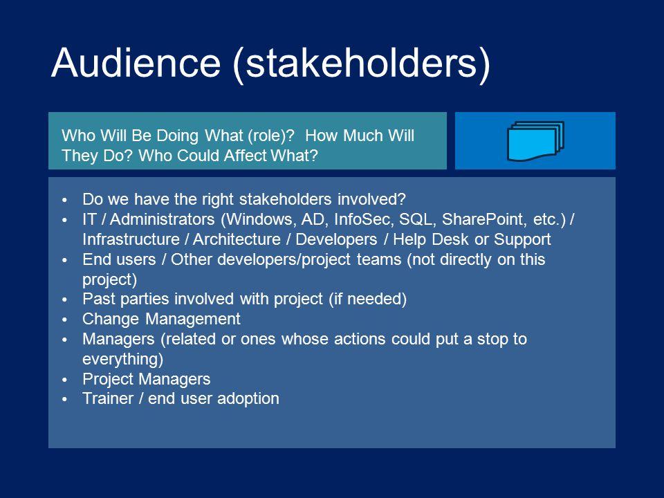 Audience (stakeholders)