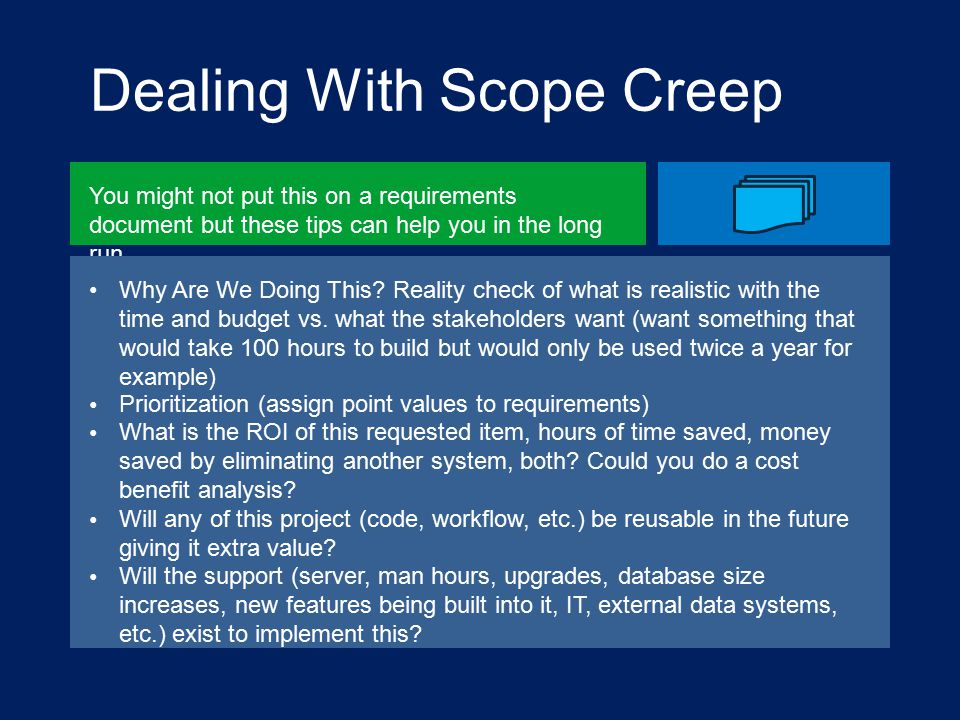 Dealing With Scope Creep