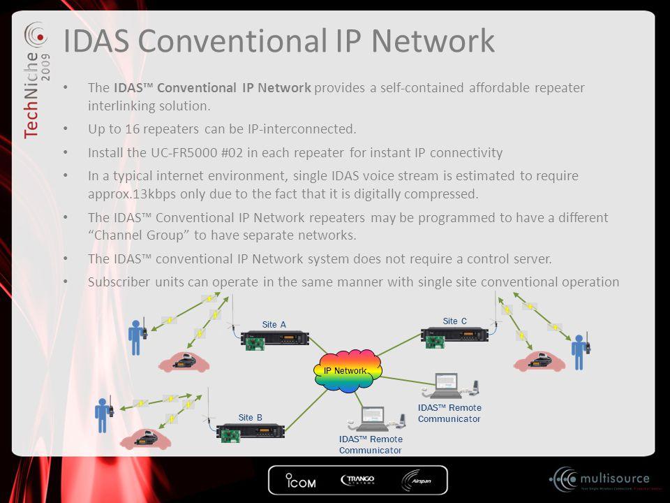 IDAS Conventional IP Network