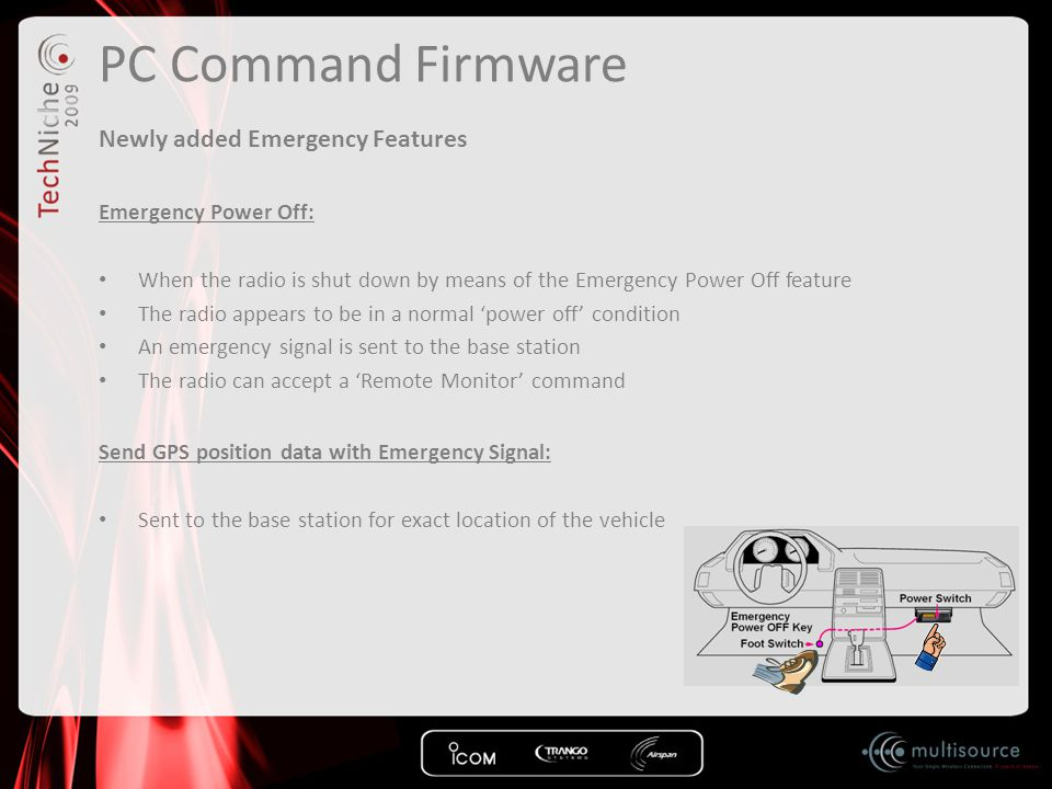 PC Command Firmware Newly added Emergency Features