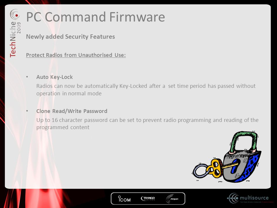 PC Command Firmware Newly added Security Features