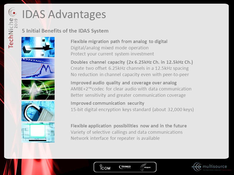 IDAS Advantages 5 Initial Benefits of the IDAS System