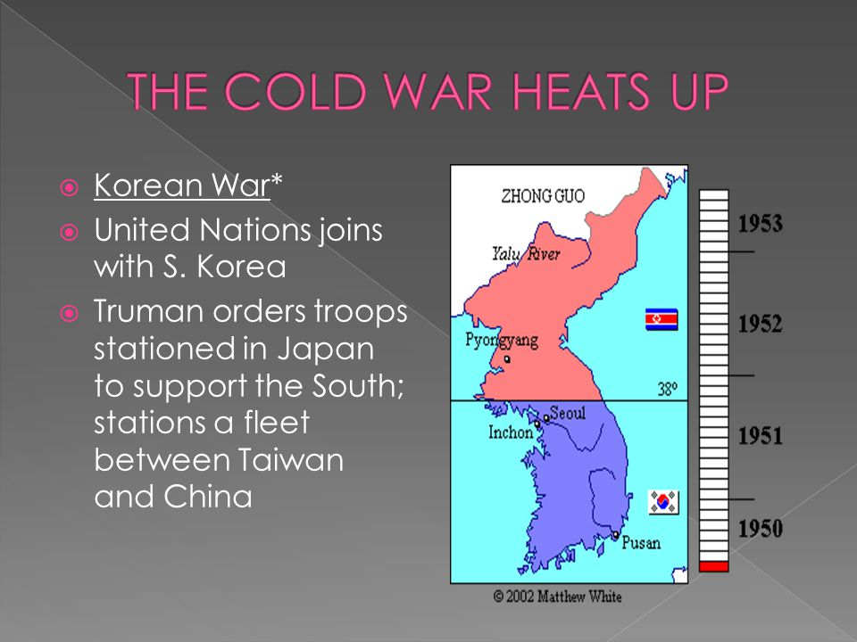 THE COLD WAR HEATS UP Korean War* United Nations joins with S. Korea