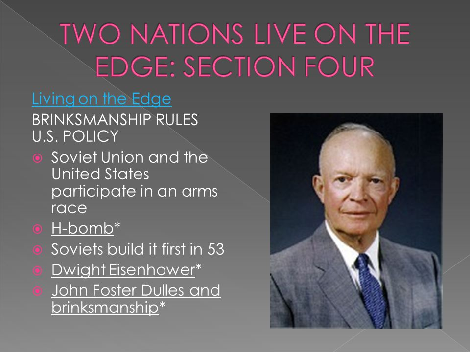 TWO NATIONS LIVE ON THE EDGE: SECTION FOUR