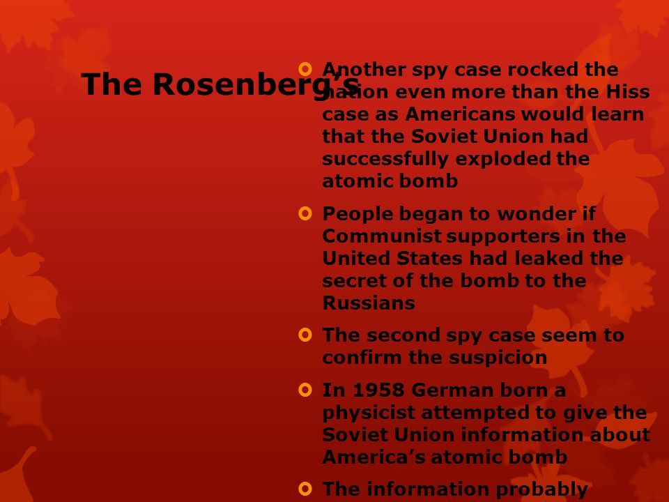 The Rosenberg's