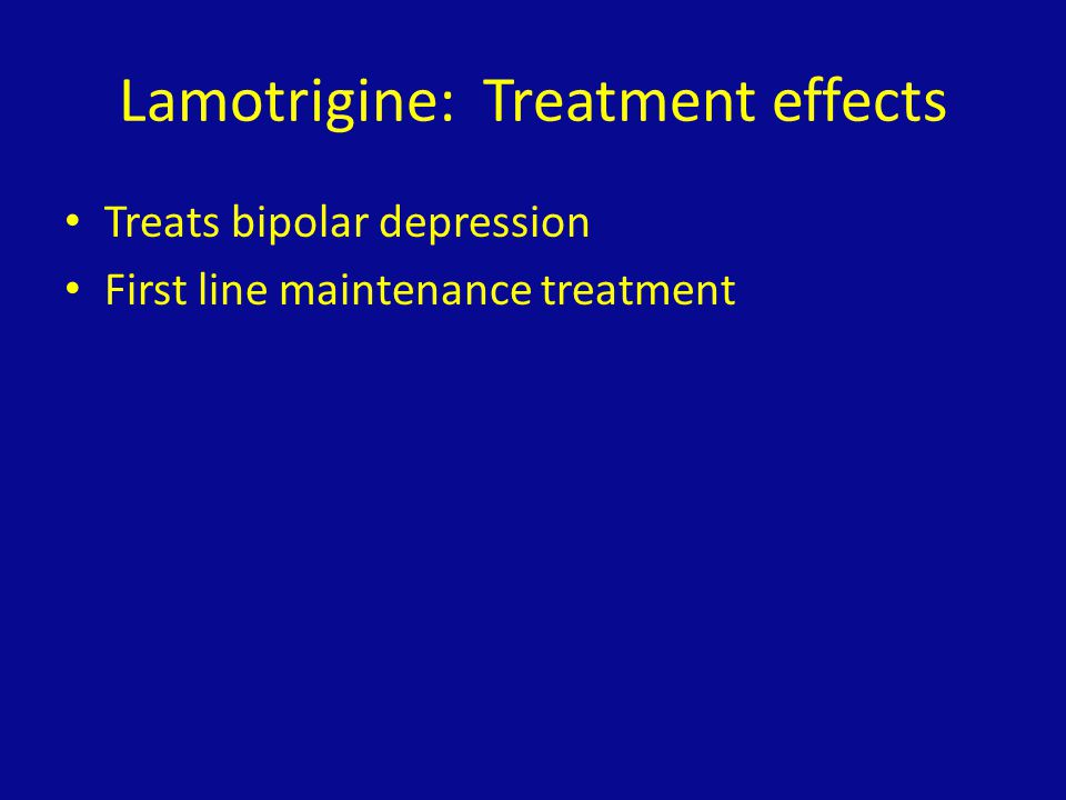 Lamotrigine: Treatment effects