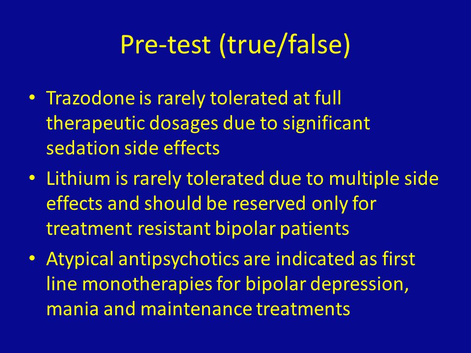 Pre-test (true/false)