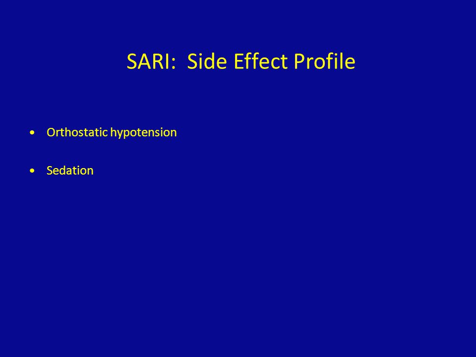 SARI: Side Effect Profile