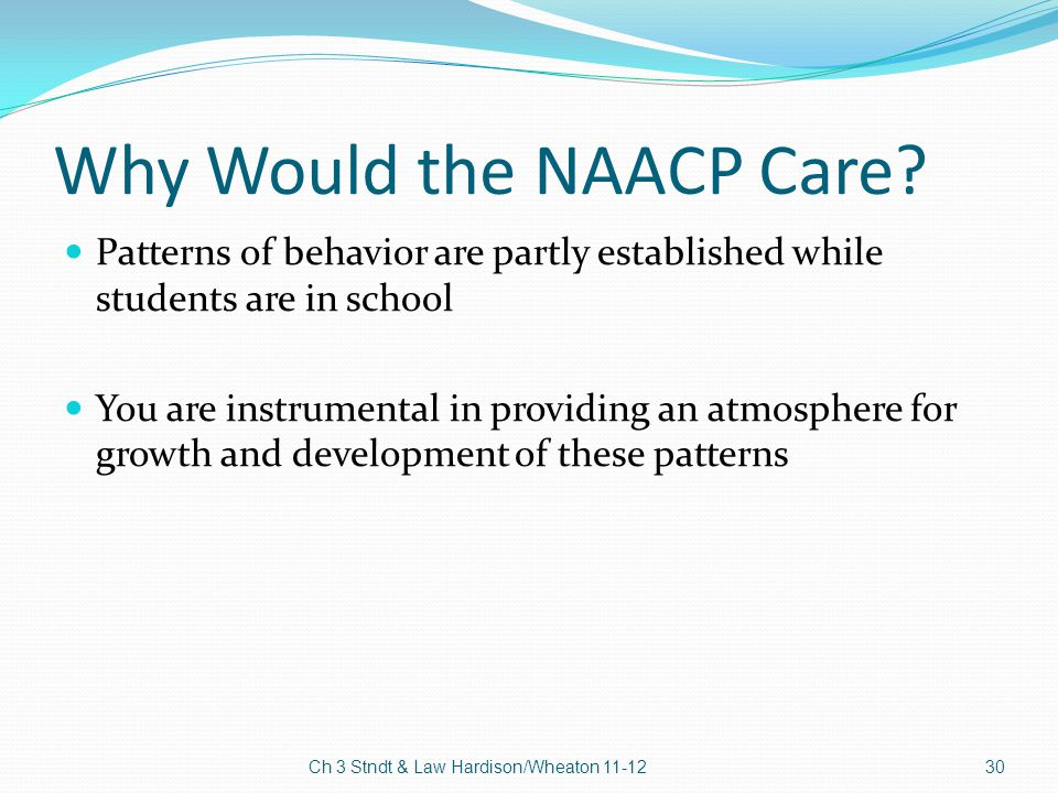 Why Would the NAACP Care