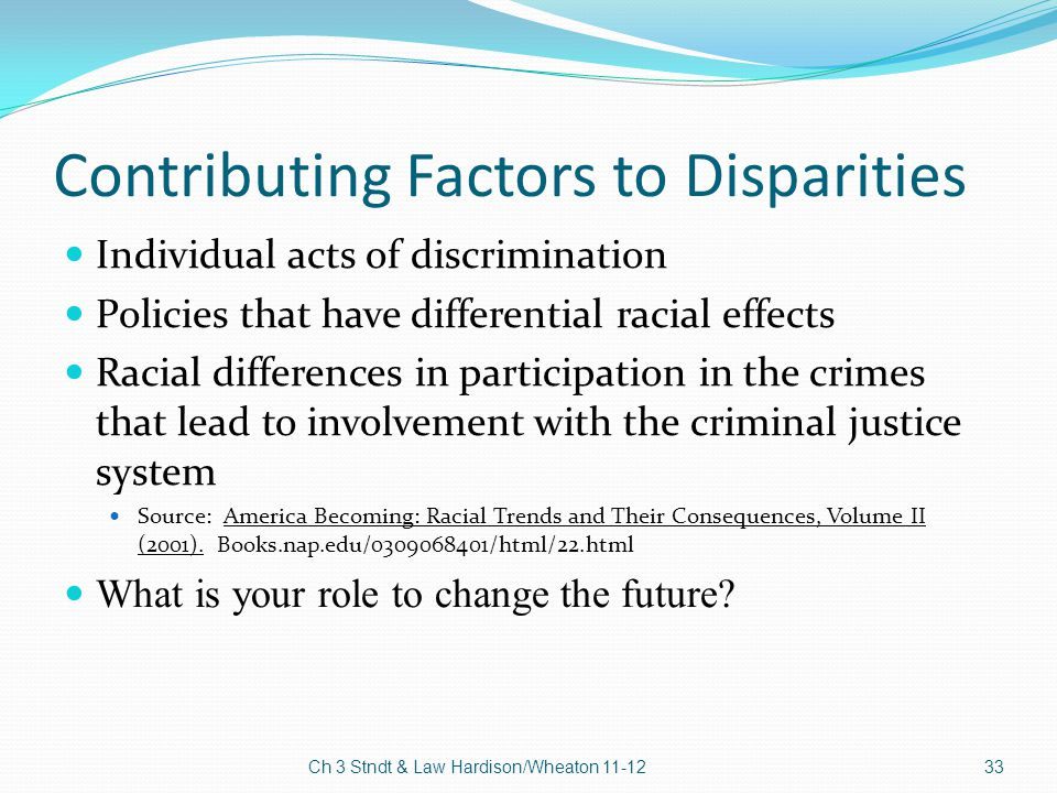 Contributing Factors to Disparities