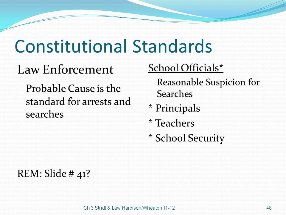 Constitutional Standards