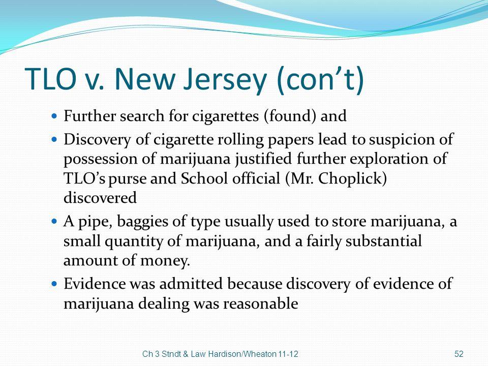TLO v. New Jersey (con't)