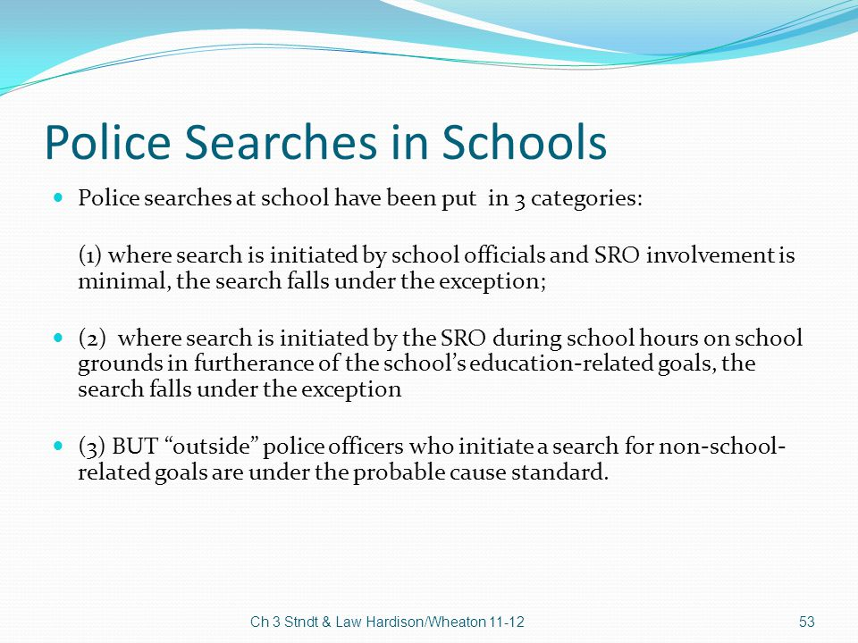 Police Searches in Schools