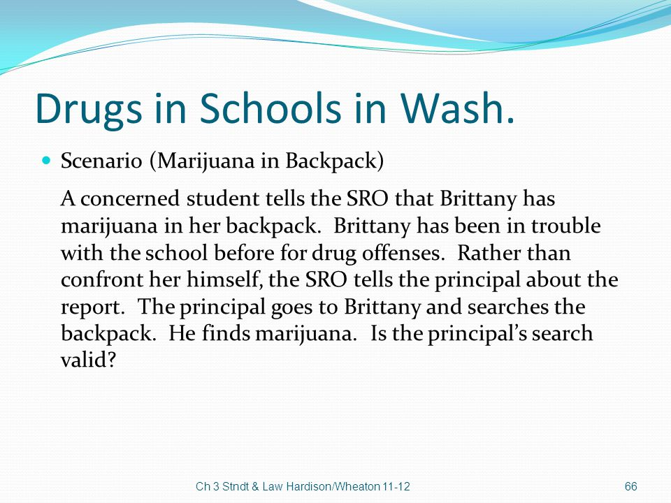 Drugs in Schools in Wash.