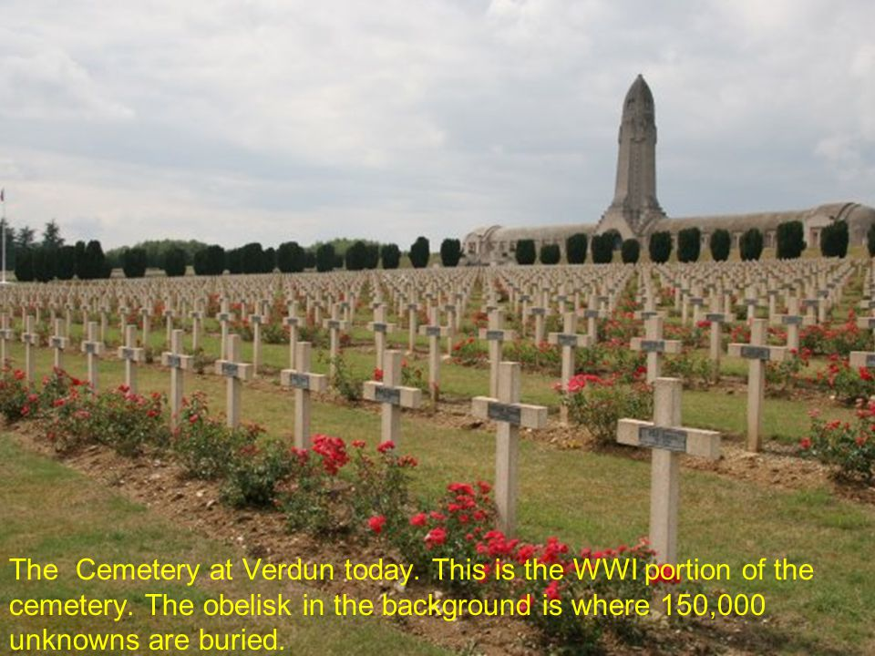 The Cemetery at Verdun today. This is the WWI portion of the cemetery
